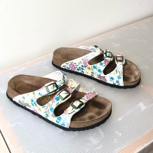 Birkenstocks Florida 250 39 flowers three strap